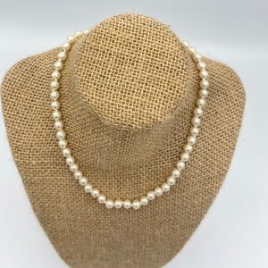 Pearl Jewelry - Vintage Genuine Glass Pearl Necklace